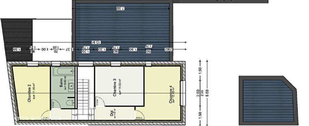 Maison Dinard centre ville 5 pièce(s) 123.2 m2 suite parentale au rez-de-chassée terrasse exposée sud