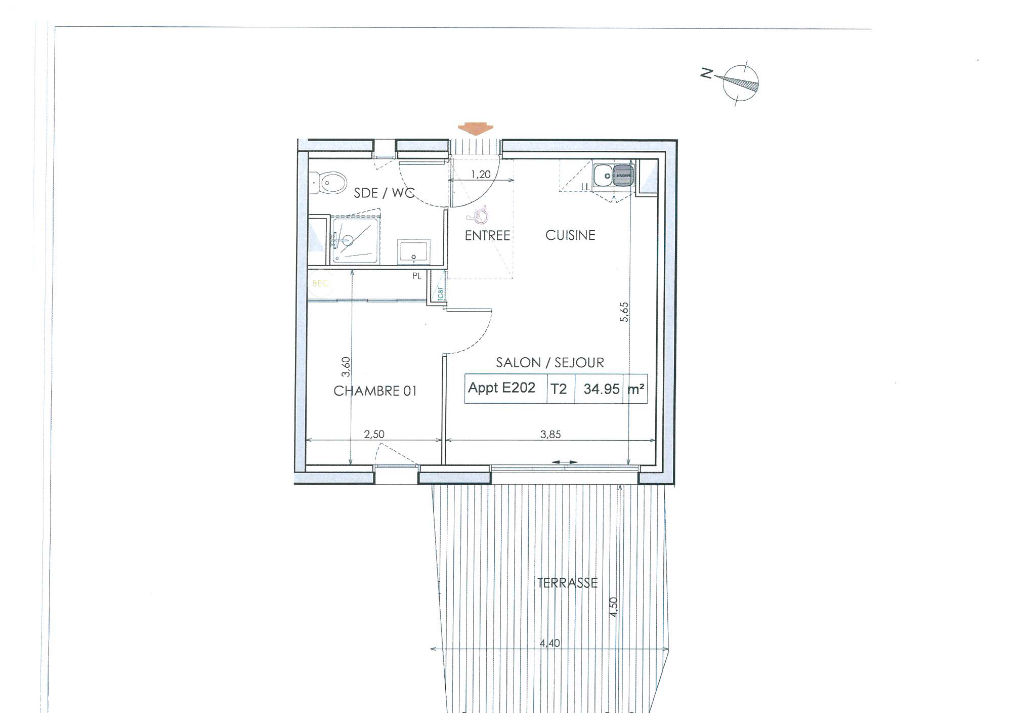 Programme Neuf Pleurtuit LA PROMENADE appartement de type 2 pièce(s) 34.95 m2