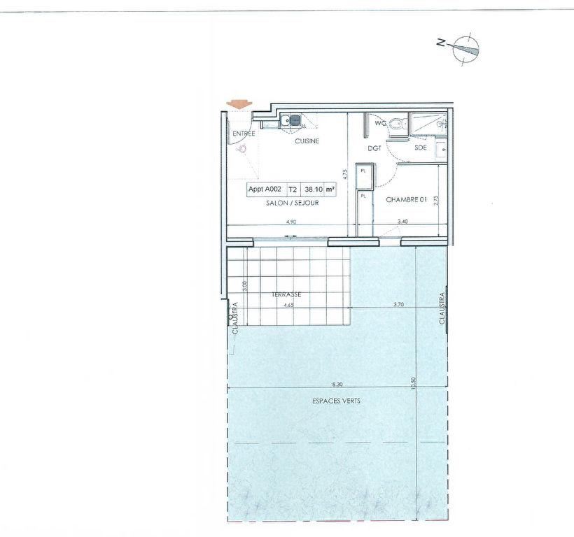 Programme Neuf Pleurtuit LA PROMENADE appartement de type 2 pièce(s) 38.10 m2 avec jardin