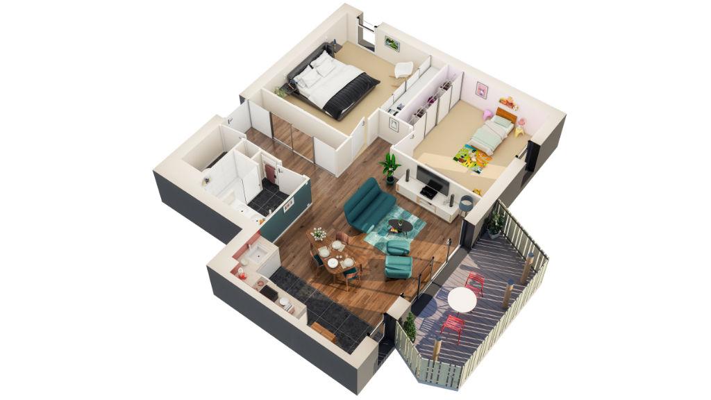 Programme Neuf Pleurtuit LA PROMENADE appartement de type 3 pièce(s) 66.50m2 avec jardin privatif