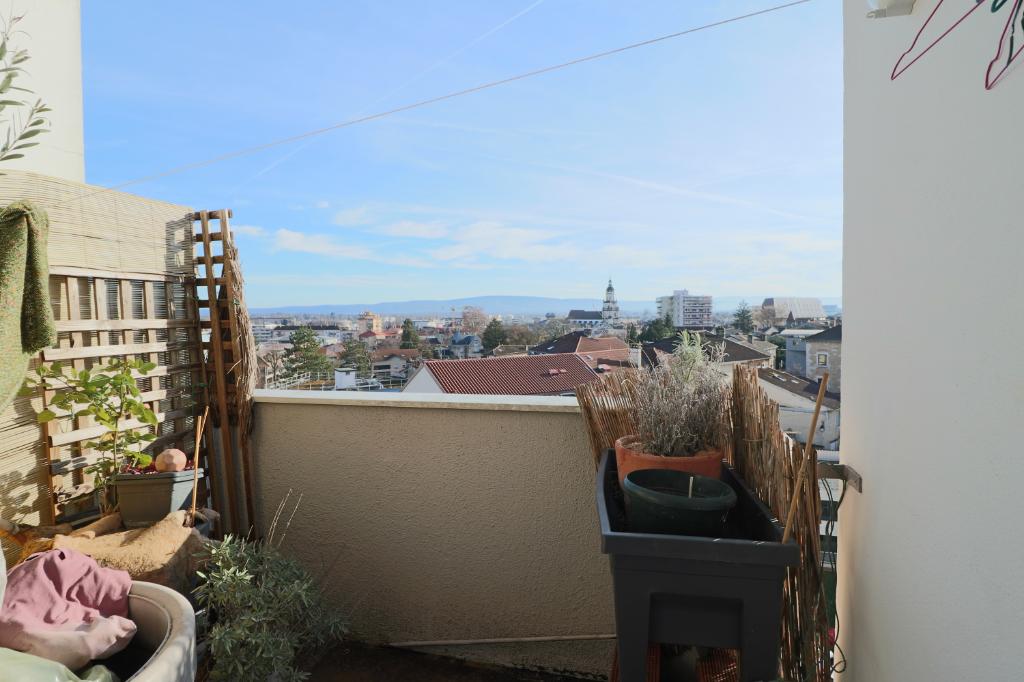 Appartement Bourg En Bresse 3 pièces 67,06 m2 loggia balcon vue fantastique