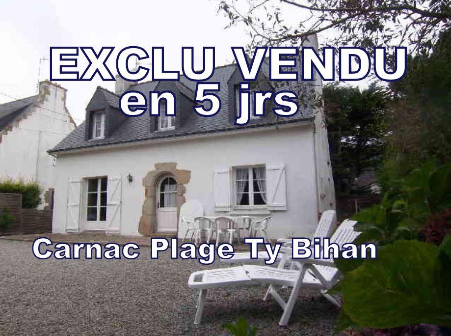 CARNAC Maison de charme A VENDRE   6 pièces 4 chambres  possibilité 5 - 120 m²