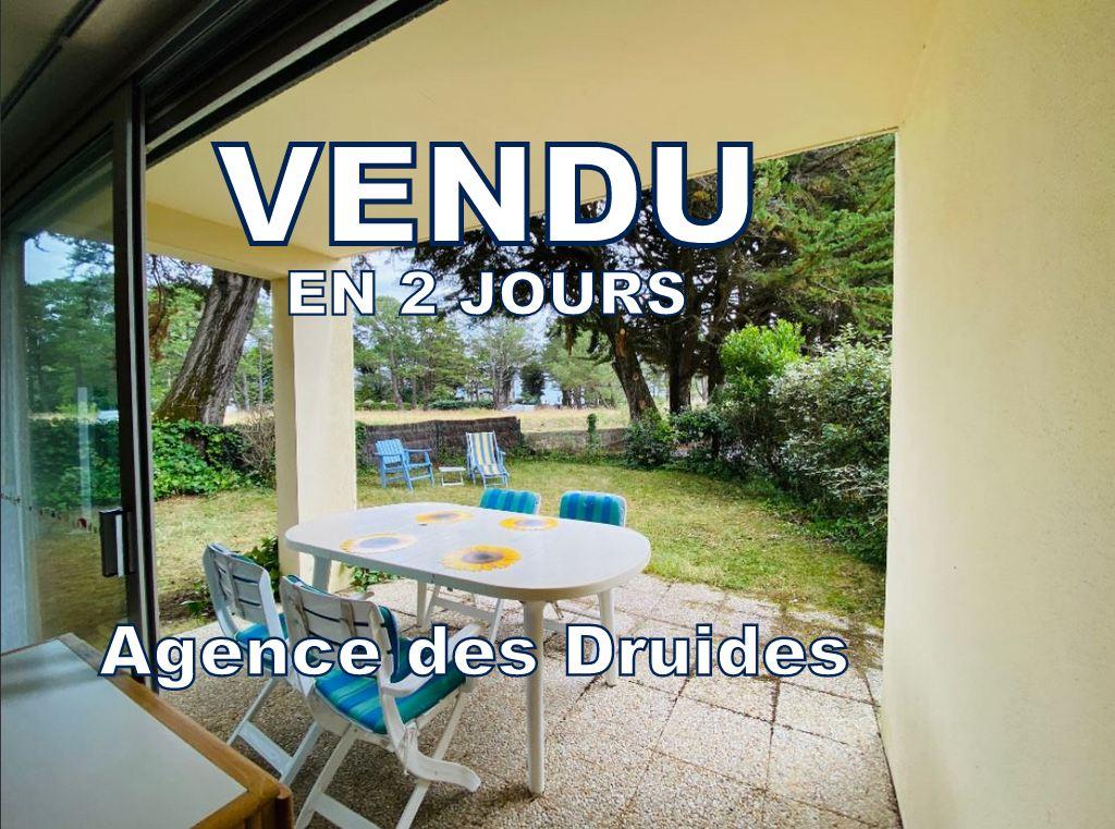 Appartement Carnac Grande plage - Beaumer  2 pièces 25.35 m2 en rez de jardin  56340