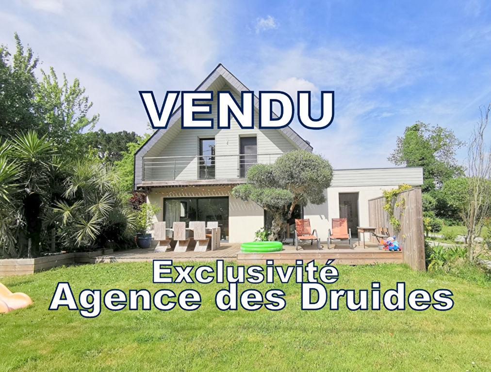 Achat Vente  maison CRACH - Saint Philibert - Locmariaquer - La Trinité sur Mer - moderne et lumineuse 134 m²  4 chambres garage jardin CRACH 56950