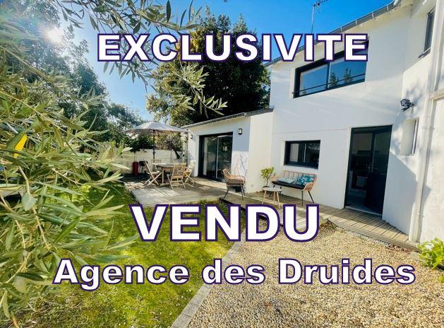 A VENDRE CARNAC plage maison récente - 3 pièces - 2 chambres avec terrasse et jardinet. 48m² hab env. 150m² terrain. 56340