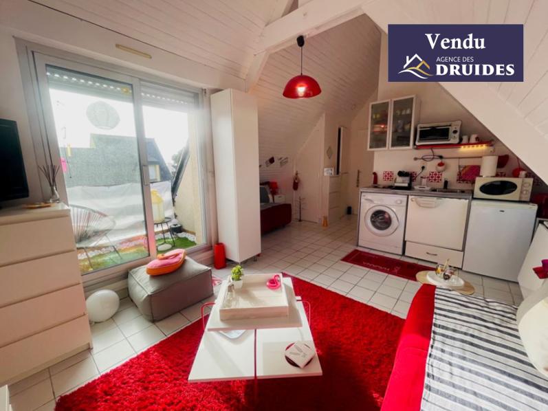 achat vente Appartement  1 pièces 25.87 m2 utiles - 17.25m² Habitables plus terrasse Ouest  56340 PLOUHARNEL à 2 pas de CARNAC