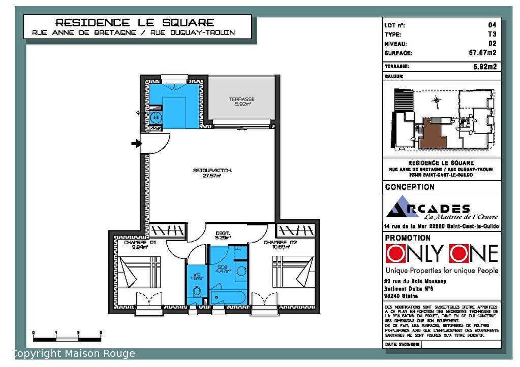 Appartement Neuf Saint Cast Le Guildo 3 pièce(s) 57.57m²