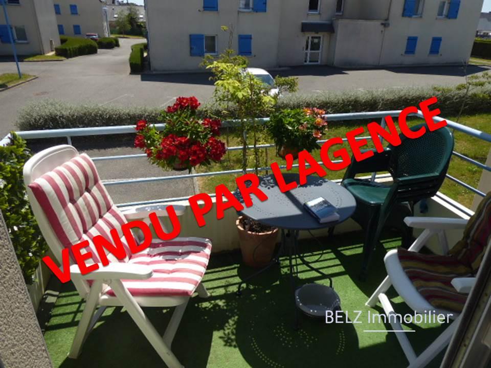 Morbihan sud Belz entre commerces et Ria Appartement 3 pièces 2 chbres balcon