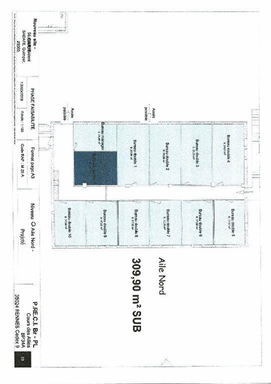 A louer bureau de 338 m² situé au centre d'affaires de Crec'h Gwuen 29000 QUIMPER