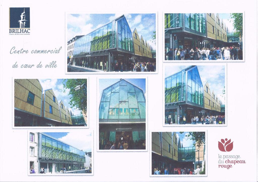 A LOUER cellule commerciale 137 m² galerie du chapeau rouge 29000 Quimper