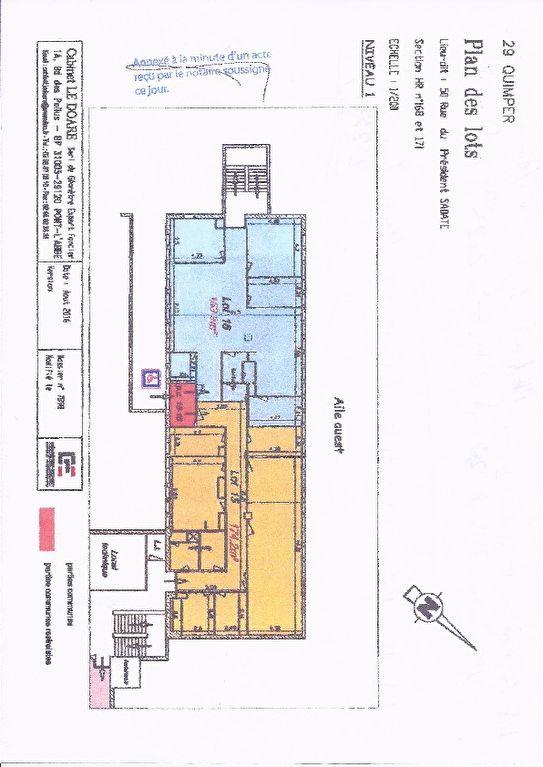 A vendre murs, un plateau de bureau, avec locataire en place 23 238 € /A Quimper 29000 ,