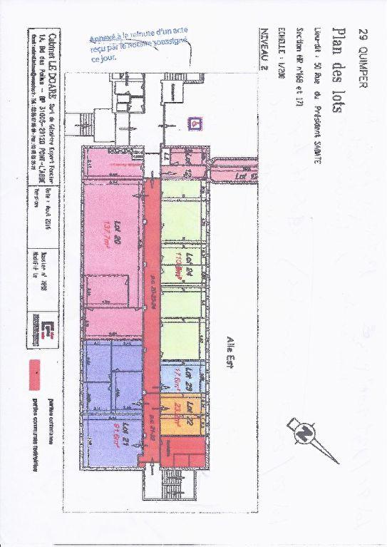 A vendre murs de bureau, locataire en place 2905 € /A ,Quimper 29000
