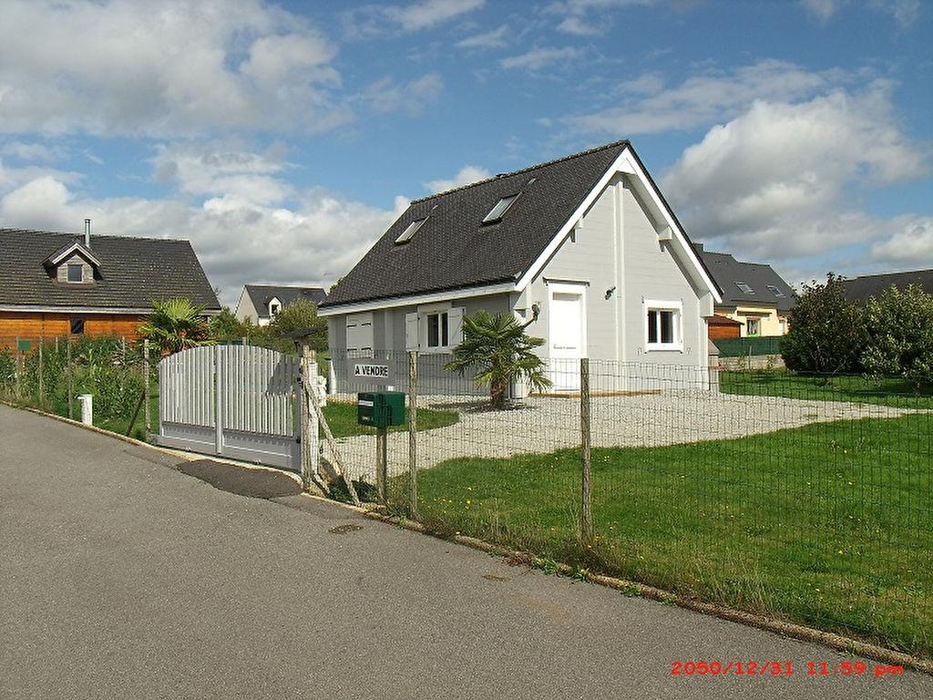 A Vendre Maison en BOIS massif Bieuzy Bretagne Morbihan 4 pièces 62 m²  2 chambres  jardin  garage