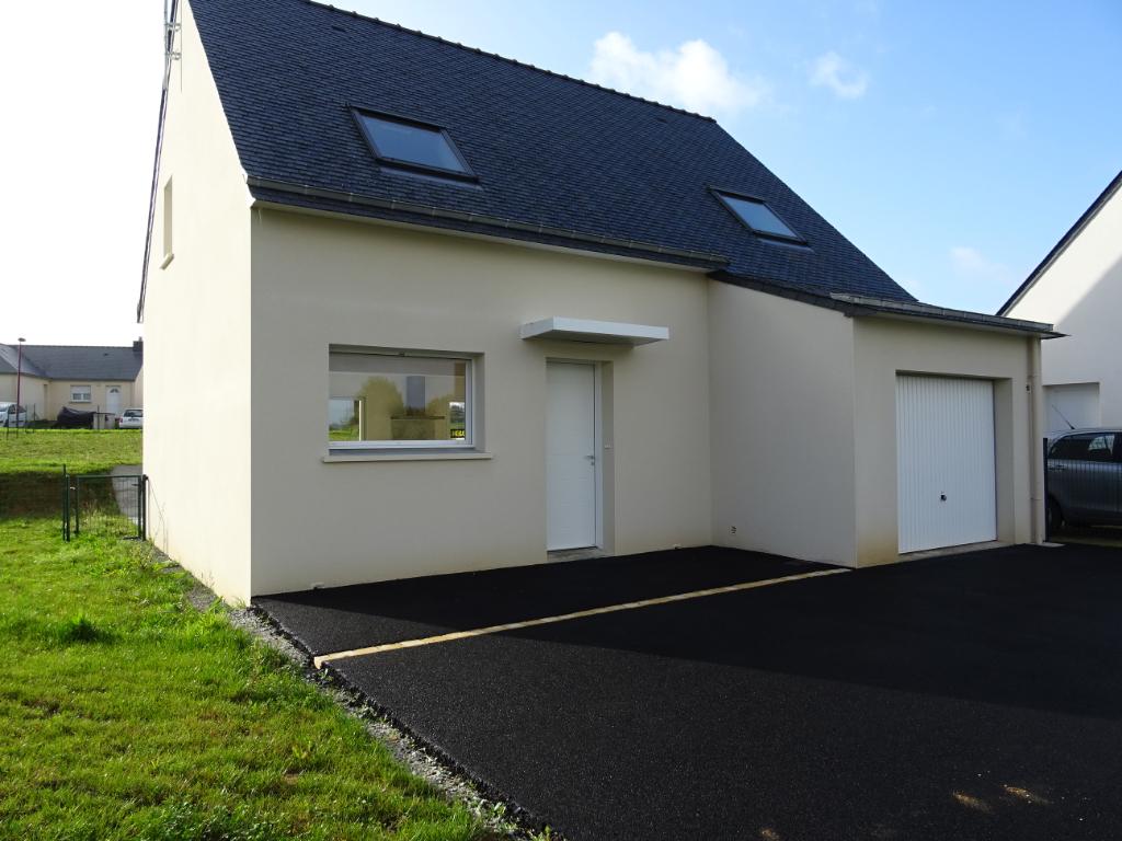 A louer Bretagne Morbihan Kergrist maison neuve de type 4 avec garage et gardin d'une surface de 82 m²