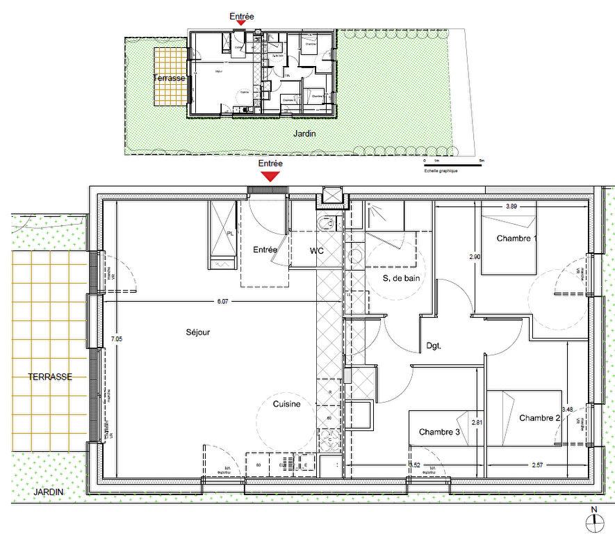 Appartement Nantes 4 pièce(s) 82.7 m2 NEUF