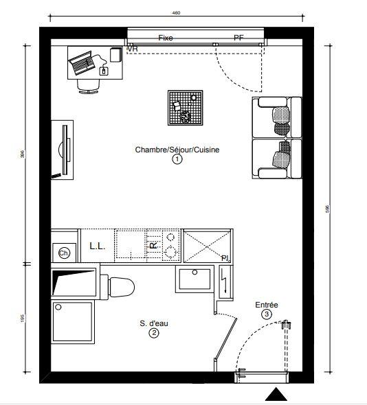 Appartement Rennes 1 pièce(s) 26.30 m2