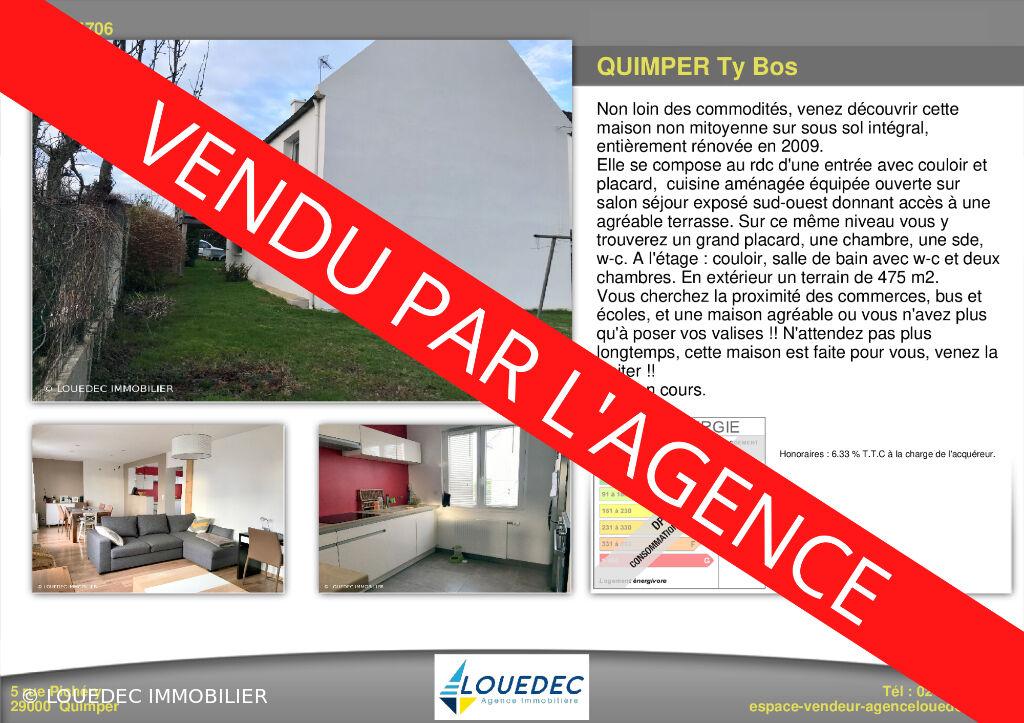 Quimper , secteur ty bos ,proche commerces , maison de 100m2 renovée .