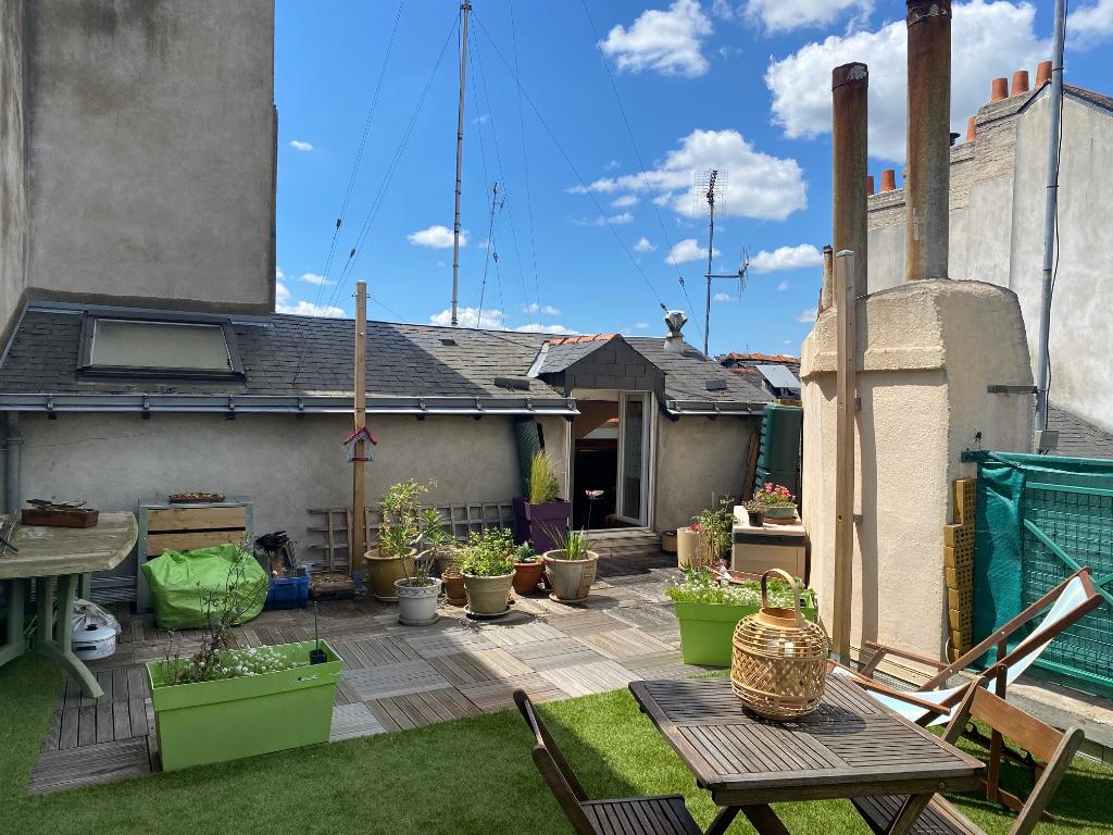 Nantes Chu, 3 pièces 52 m²  (69  m² au sol avec terrasse 38 m²