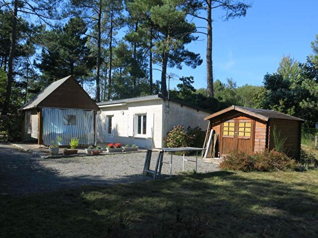 Terrain de loisirs viabilisé avec habitation et dépendance A VENDRE 56130 CAMOEL au calme proche plages de PENESTIN