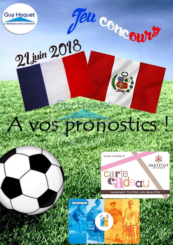 Châlette sur Loing -  Jeux concours Facebook pronostics France - Pérou !