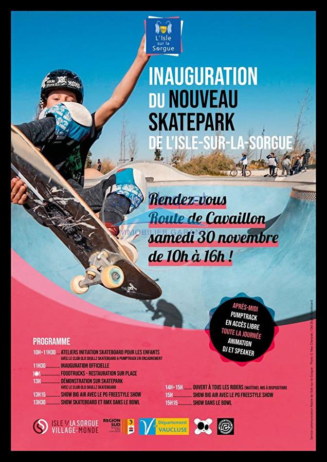 Inauguration du nouveau skate park à l'Isle-sur-la-Sorgue !