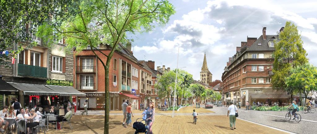 Lisieux, le centre-ville renouvelé à l'horizon 2025.