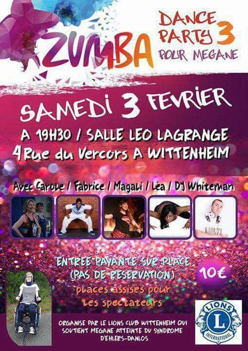 Soirée ZUMBA PARTY pour Mégane