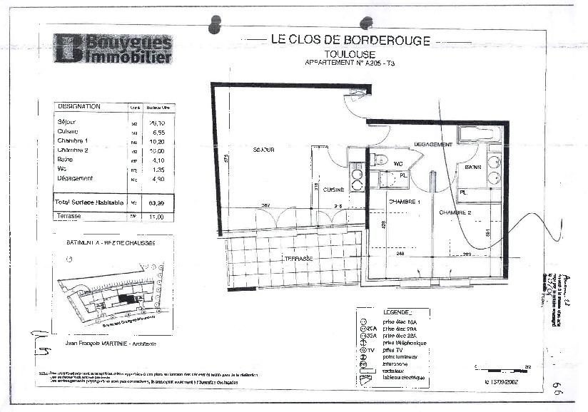 Toulouse 31200  SANS FRAIS D'AGENCE Proche Métro Borderouge Au Pied du Jardin Muséum et Parc de la maourine T3  très bien agencé de 63.3m²  Agréable terrasse de 11m²  parking en sous sol photo 2