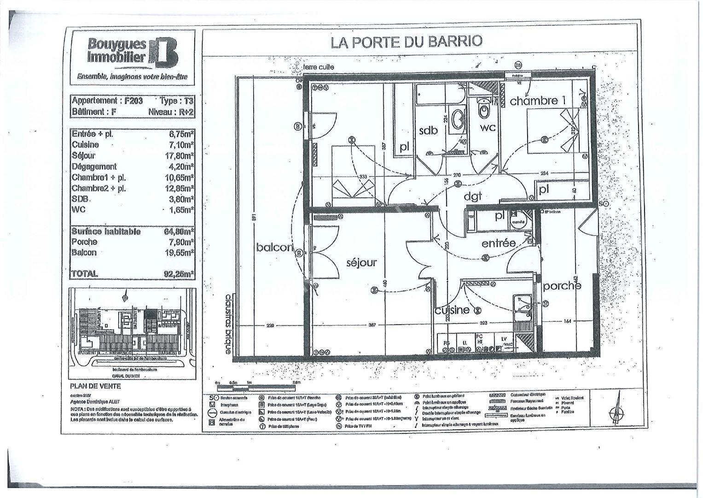Toulouse 31200 CANAL DU MIDI  Agréable T3 Récent  de 65.25m² cuisine séparée , 2  PLACES DE PARKING en sous sol,  terrasse de 17.97m² + seconde terrasse/porche de 14.80m² photo 2